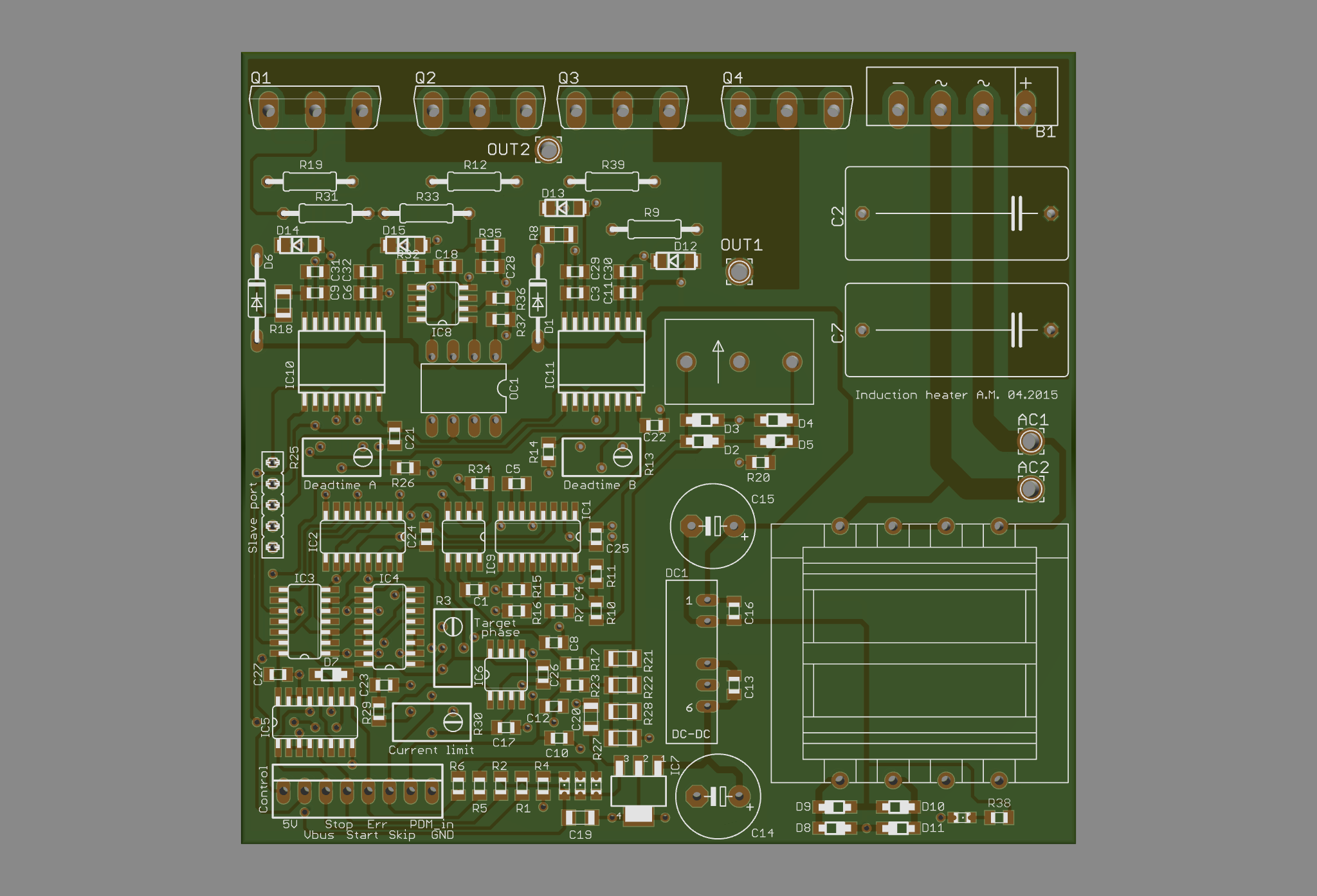 Adventures In Induction Heating Heater Circuits The Boards I Designed 2 Layers And They Include Latest Feedback Bus Voltage Sensing Additional Protection If Everything Works As
