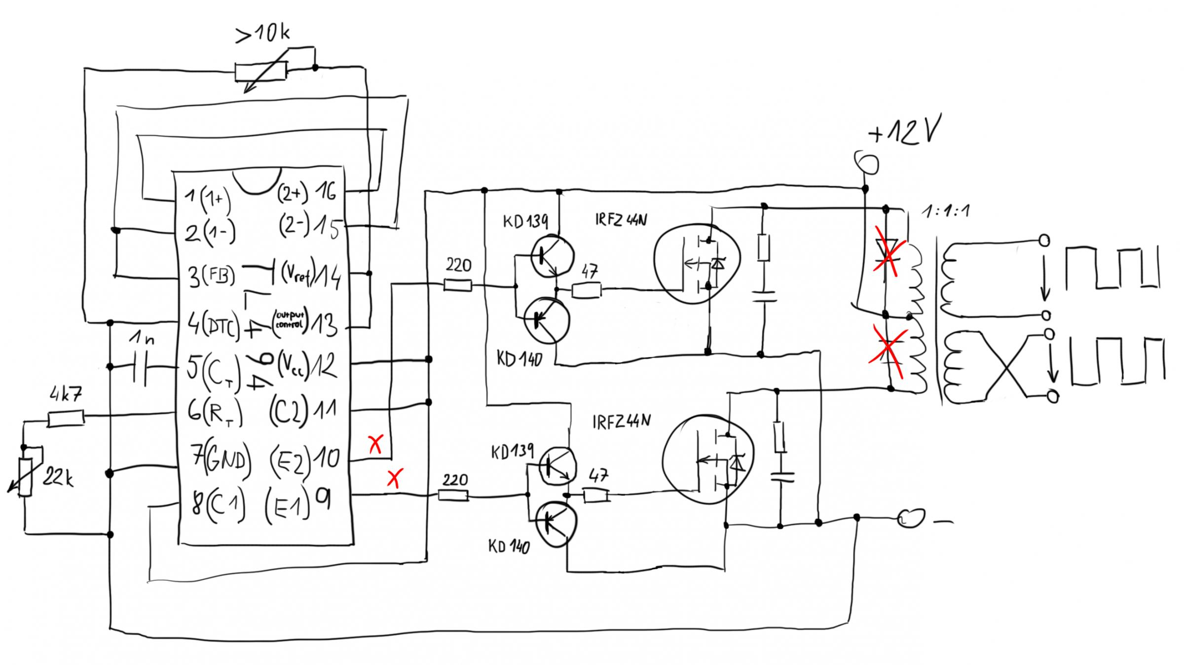 Tl494 Flyback Driver Oscillator Section Tesla Coil Wiring Diagram Tl494wrong 18334 Kb 2400x1349 Viewed 3726 Times