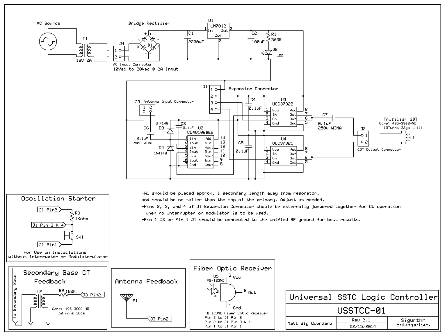 My First Half Bridge Sstc High Frequency Solid State Tesla Coil Circuit Logic Driver Schematic
