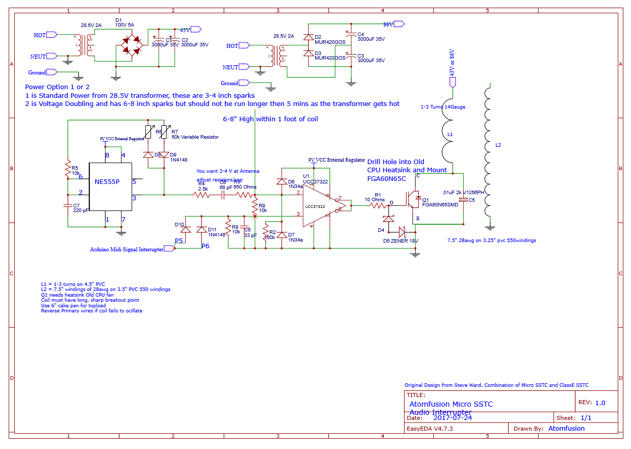 Simple Micro Sstc Schematic Of Solid State Tesla Coil With Igbt Any Help Guidance You Could Offer Would Be Great